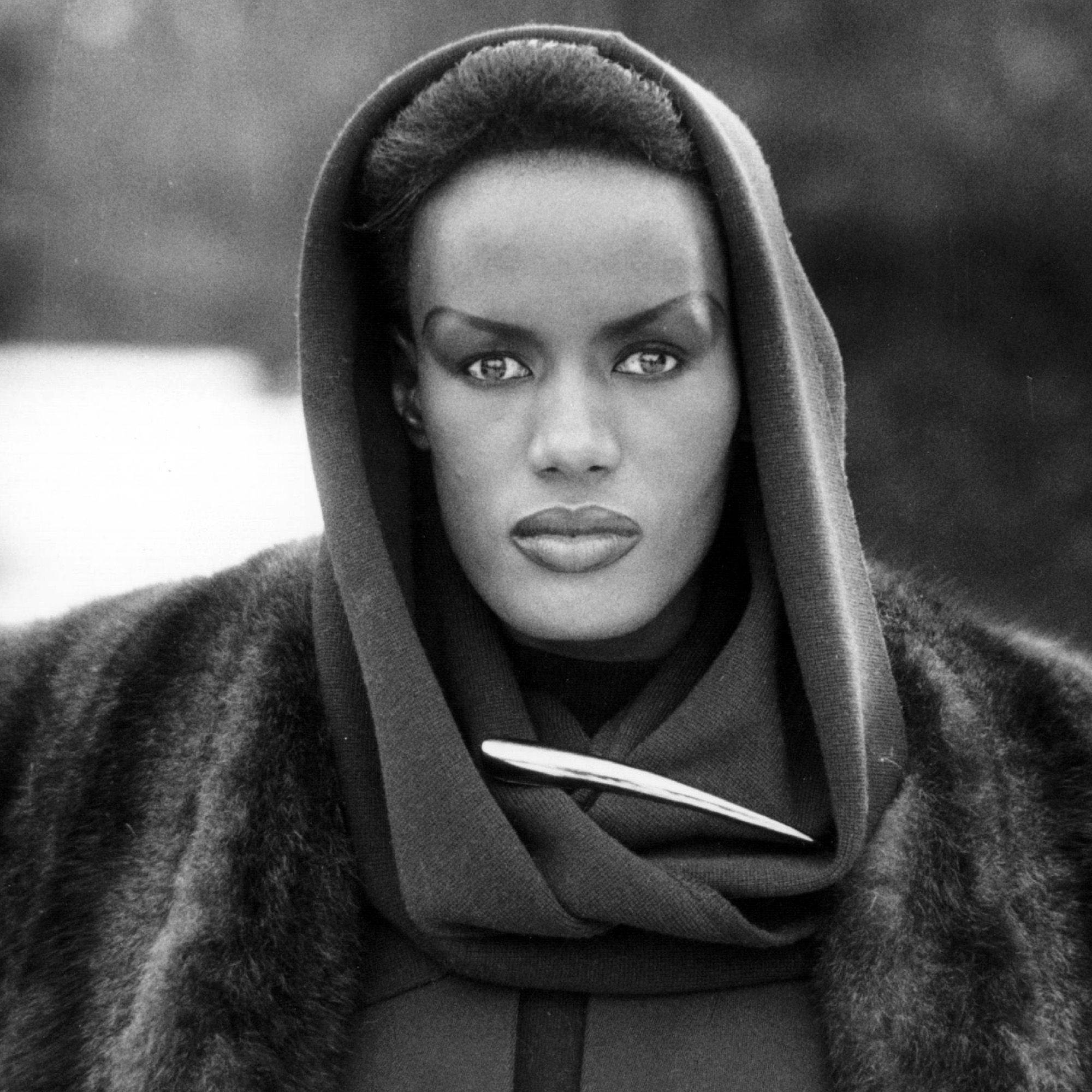 Jamaican born singer, actress and fashion model Grace Jones.   (Photo by Larry Ellis/Getty Images)