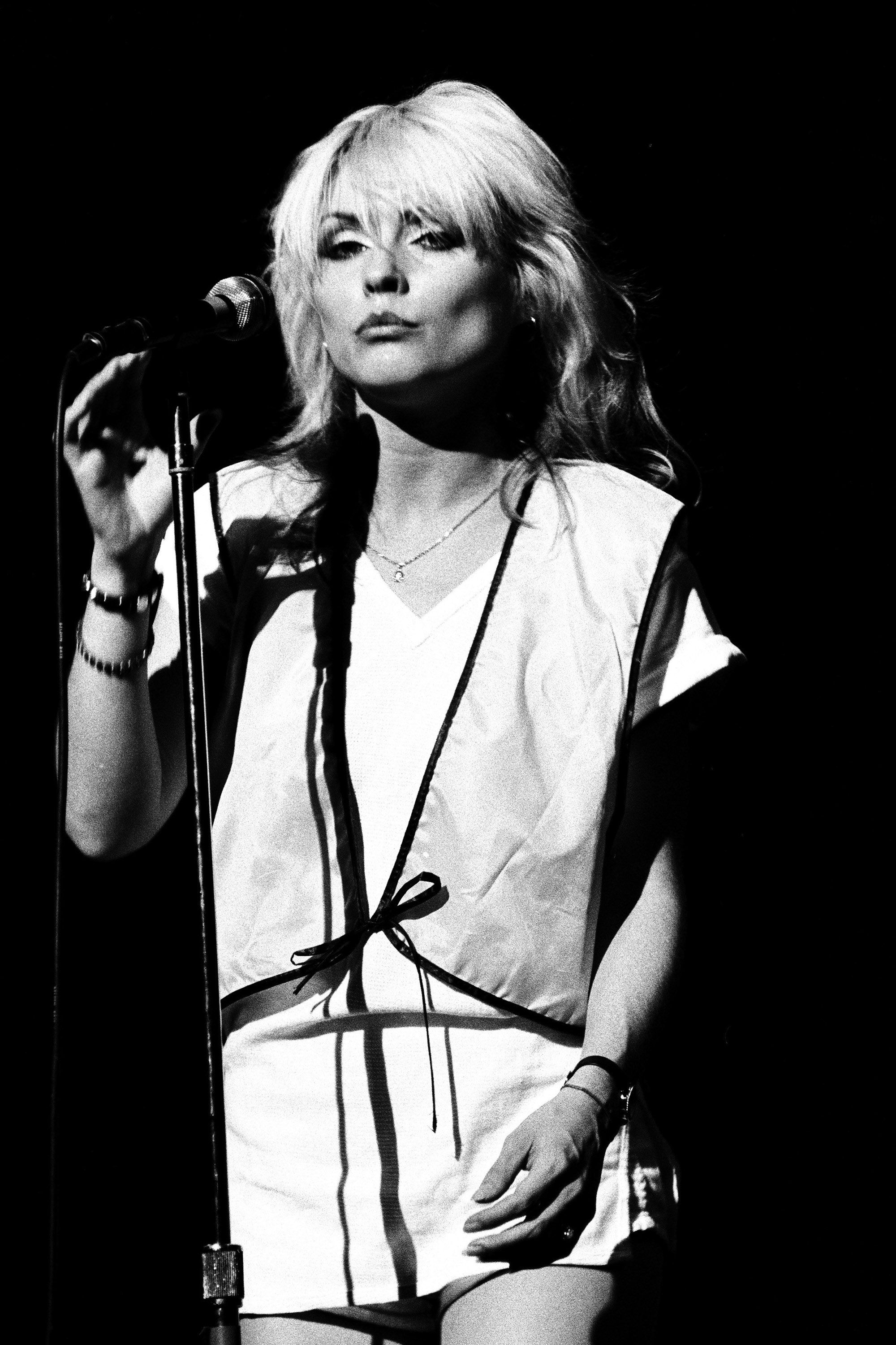 SAN FRANCISCO - 1978:  Debbie Harry of Blondie performs live at The Winterland Ballroom in 1978 in San Francisco, California. (Photo by Richard McCaffrey/Michael Ochs  Archive/Getty Images)