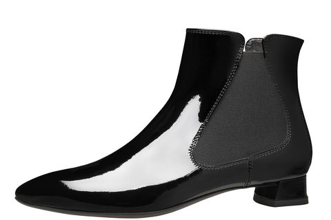 "<strong>AGL Attilio Giusti Leombruni</strong> boot, $430, <a target=""_blank"" href=""http://shop.harpersbazaar.com/designers/agl-attilio-giusti-leombruni/patent-chelsea-boot/"">shopBAZAAR.com</a><img src=""http://assets.hdmtools.com/images/HBZ/Shop.svg"" class=""icon shop"">."