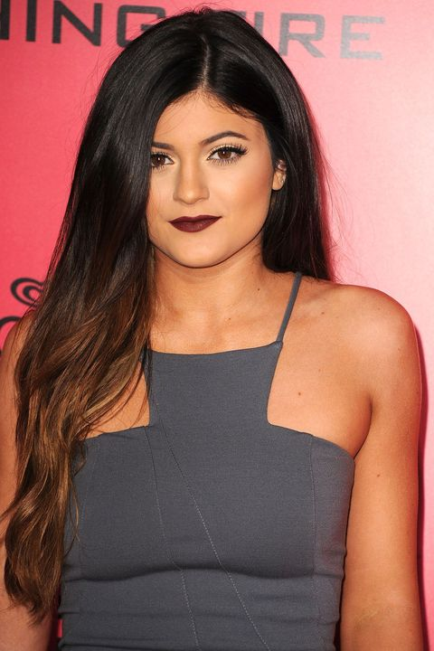 2013A few years before she launched Kylie Cosmetics, the youngest Jenner stepped out wearing dark berry lipstick.