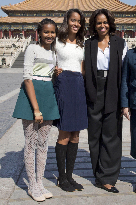 Sasha and Malia Obama\'s Best Fashion Looks - Style Evolution of ...