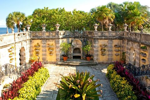 "The grounds include 10 acres of formal gardens, along with a significant collection of orchids (totaling 2,000 species).   <a target=""_blank"" href=""http://vizcaya.org/home.asp"">See more at Vizcaya Museum & Gardens »</a>"
