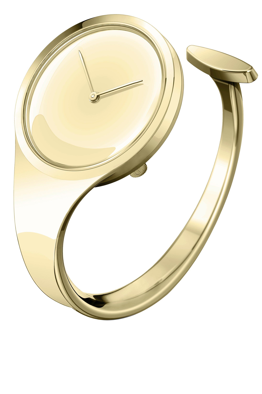 """<strong>Georg Jensen</strong> watch, $2,090, <a target=""""_blank"""" href=""""http://www.georgjensen.com/en-us/watches/vivianna/vivianna-27-mm-quartz-mirror-dial_3575516_0"""">georgjensen.com</a>."""