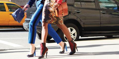 Clothing, Footwear, Leg, Human leg, Trousers, Bag, Outerwear, High heels, Style, Street fashion,