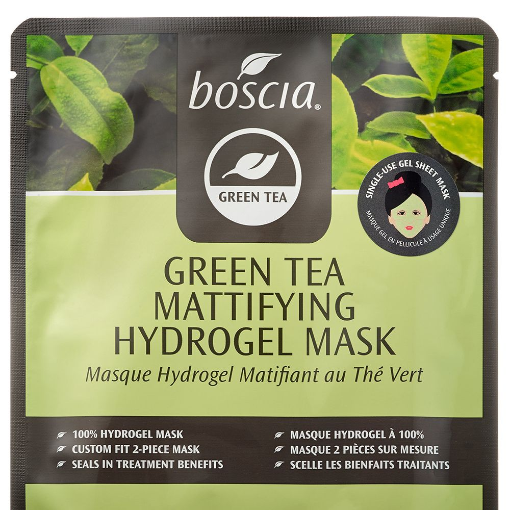 """<strong>Boscia</strong> Green Tea Mattifying Hydrogel Mask, $8, <a target=""""_blank"""" href=""""http://www.boscia.com/shop/product_detail.php?products_id=207"""">boscia.com</a>."""