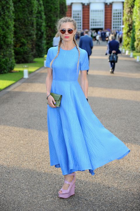 What could come off as juvenile looks effortless on Laura Bailey in Emilia Wickstead.