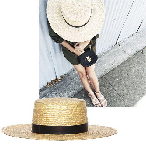 "<a target=""_blank"" href=""https://instagram.com/damselindior""><strong>@DamselInDior</strong></a>  <em>Janessa Leone hat, $165</em>  <a target=""_blank"" href=""https://shop.harpersbazaar.com/designers/janessa-leone/wright-sun-hat/""><strong>shopBAZAAR.com</strong></a>"