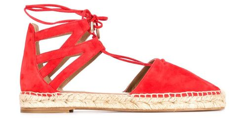"<em>Aquazzurra sandals, $495, <a target=""_blank"" href=""http://www.farfetch.com/shopping/women/Aquazzura-Belgravia-espadrilles-item-11044629.aspx?gclid=CjwKEAjw8LOsBRDdub-swPW8riISJAAnmS016CUyKj63av2S-FMQoxrCwqtYuCy6t-RhjoPYSpFKGBoCoBvw_wcB&amp&#x3B;fsb=1&amp&#x3B;ef_id=VIscOQAABSMC2Uhf:20150626160621:s"">farfetch.com</a>. </em>"