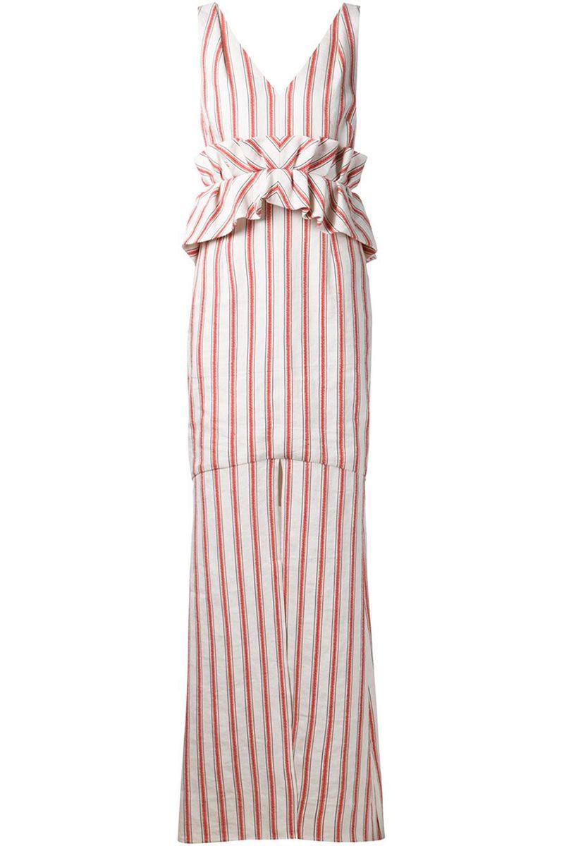 "<strong>Hellesy</strong> dress, $1,850, <a target=""_blank"" href=""http://www.farfetch.com/shopping/women/hellessy-frida-striped-dress-item-10989283.aspx?storeid=9662&ffref=lp_62_2_"">farfetch.com</a>."