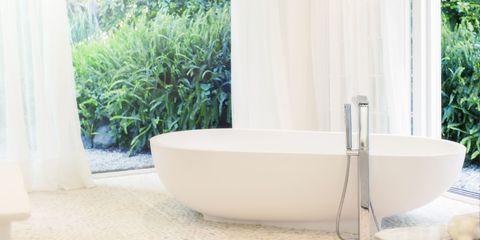 Plumbing fixture, Property, Fluid, Wall, Bathtub accessory, Bathtub, Floor, Fixture, Plumbing, Tap,