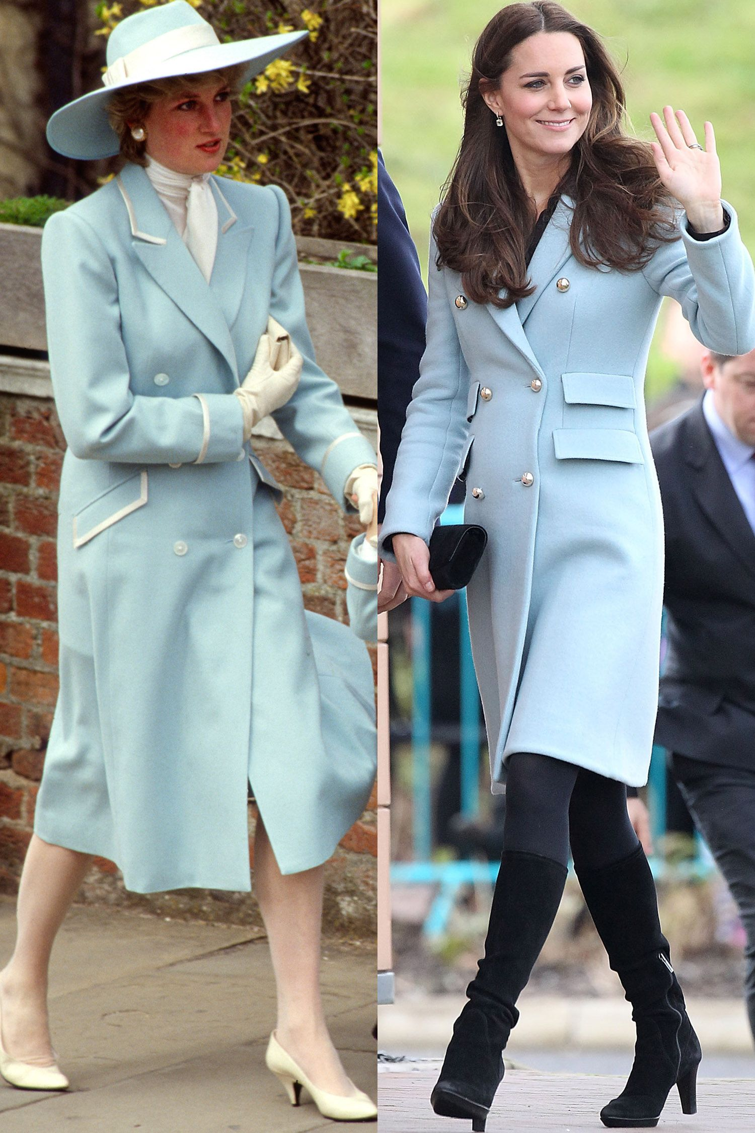 Princess Diana And Kate Middleton Have The Same Style S Matching Outfits