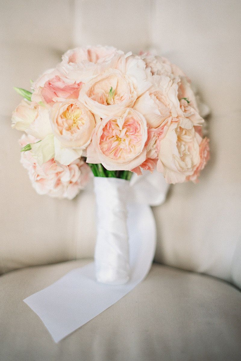 23 of the best garden rose wedding bouquets garden rose bouquet ideas for your wedding - White Garden Rose Bouquet