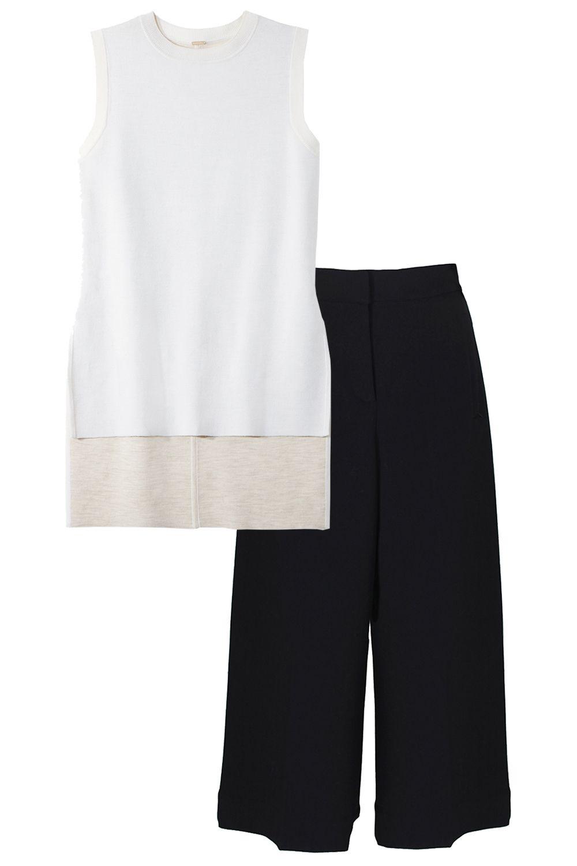 Adam Lippes sweater, shopBAZAAR.com&#x3B; Tibi culottes, shopBAZAAR.com