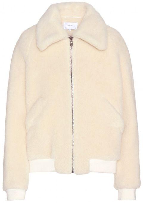 "<strong>Carven</strong> jacket, $1,520, <a target=""_blank"" href=""http://www.mytheresa.com/en-us/wool-blend-jacket-454156.html"">mytheresa.com</a>."