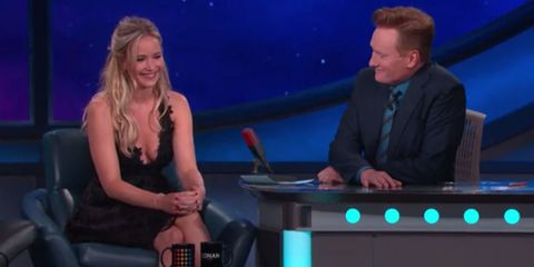 Watch Jennifer Lawrence Do Her Best Cher Impression on Conan O'Brien