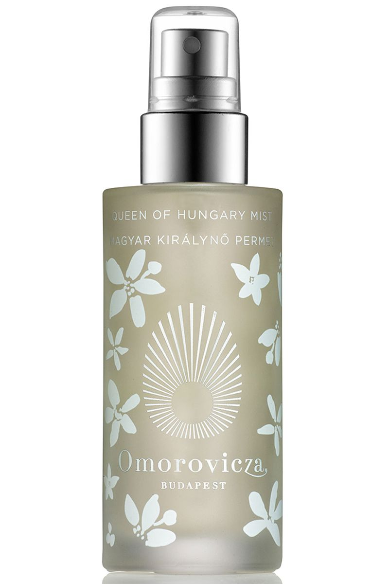 "Rich range blossom energizes the senses.  <strong>Omorovicza</strong> Queen of Hungary Face Mist Special Edition, $50, <a target=""_blank"" href=""http://www.omorovicza.com/queen-of-hungary-mist-special-edition.html/"">omorovicza.com</a>."