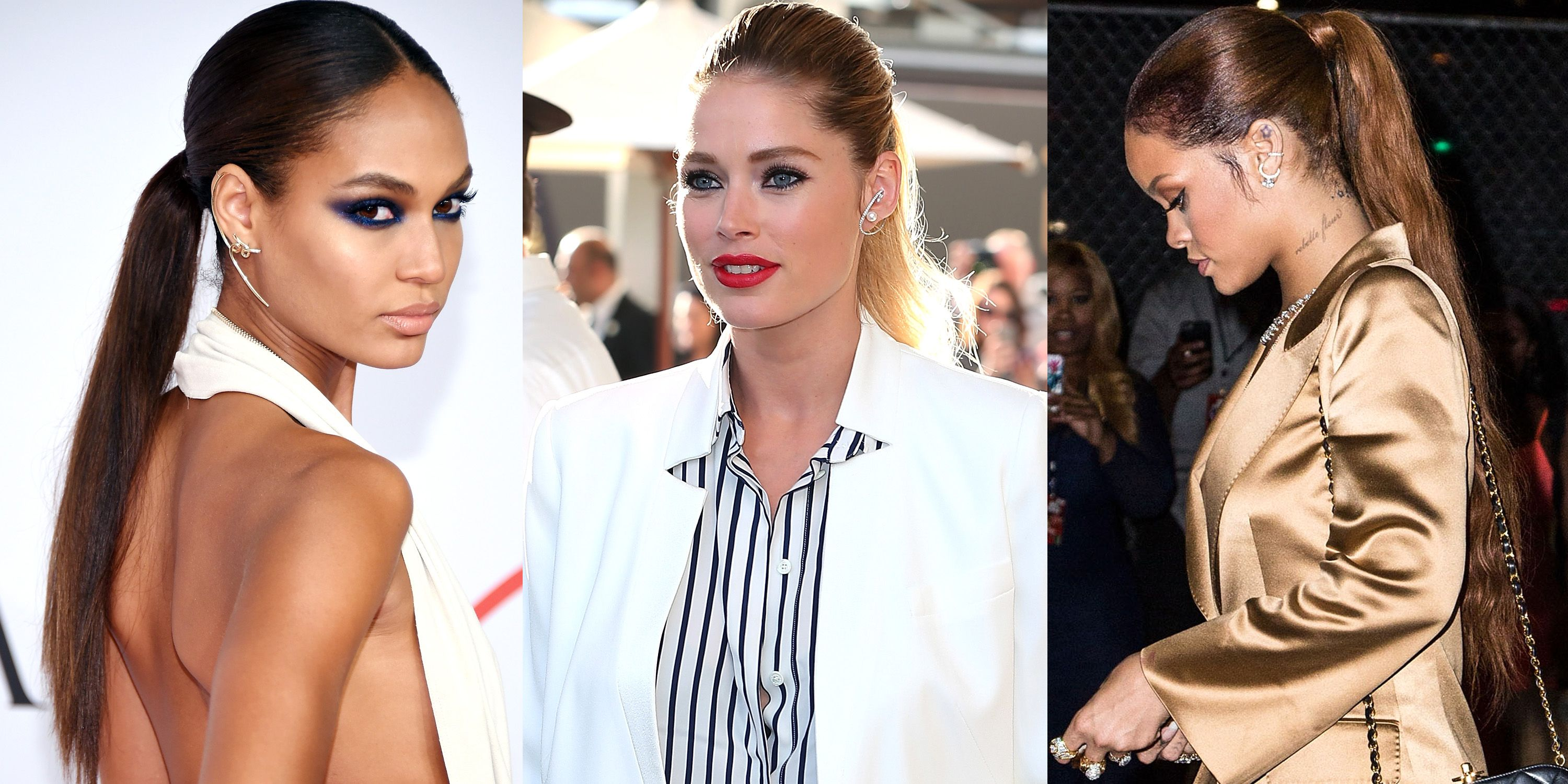 Just ask Joan Smalls, Doutzen Kroes and Rihanna—diamonds are a ponytail's best friend.