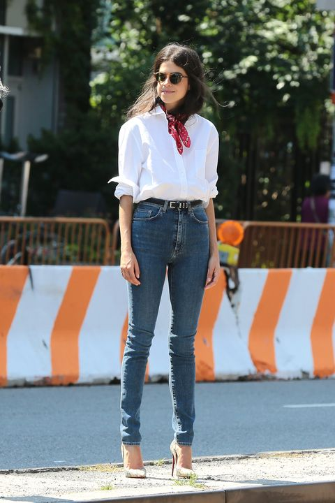The blogger proves pulled-together can happen in heated concrete jungles if you keep your shirt cotton and your outlook laidback.