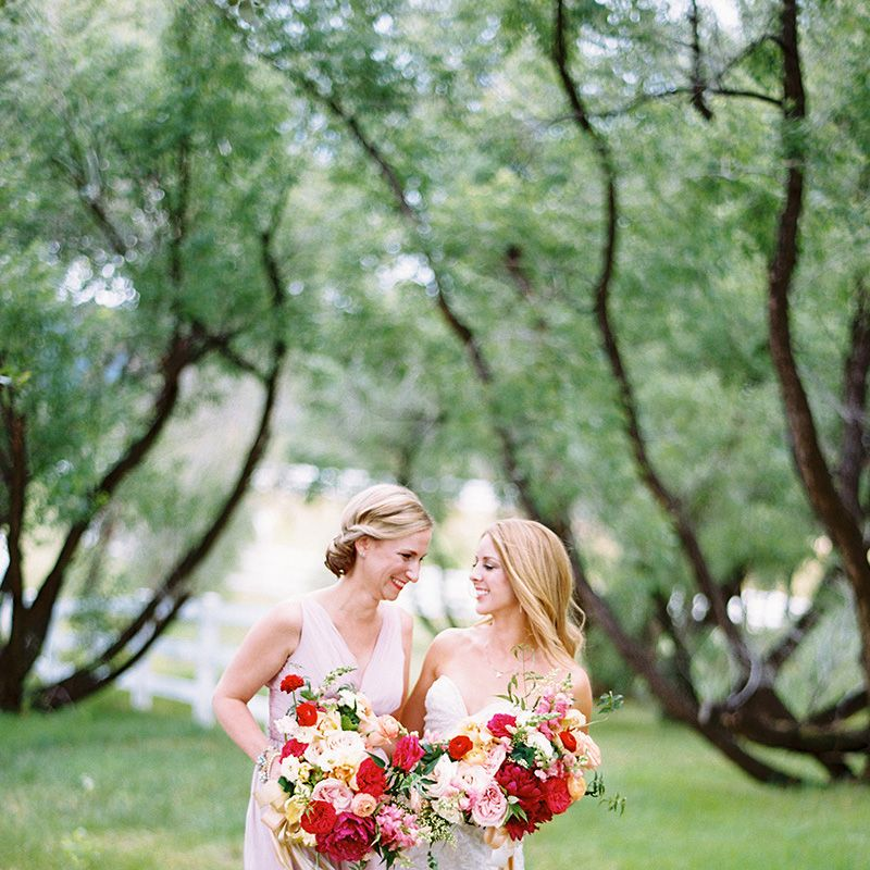 As the maid of honor, it's so important to be present and available on the big day. This means putting the phone away and helping the bride with whatever comes up.