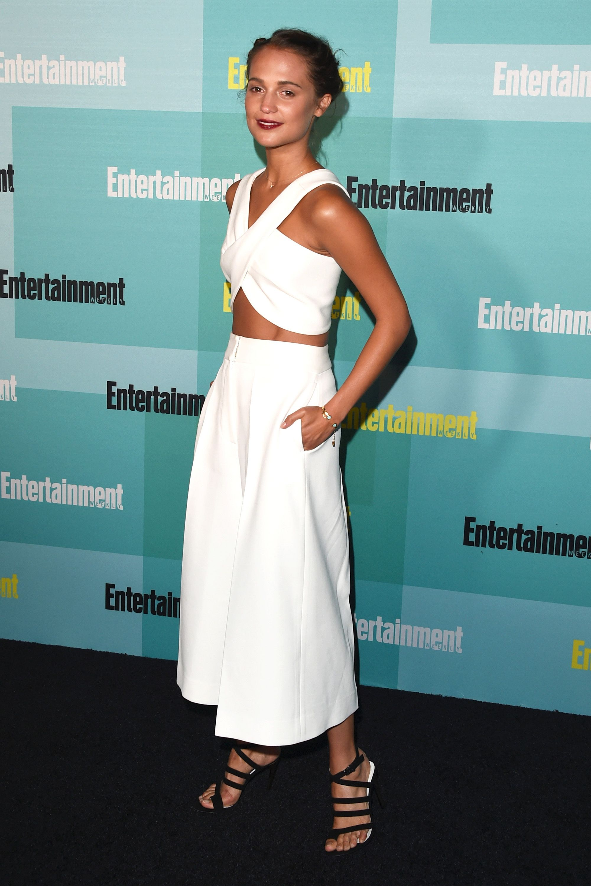 SAN DIEGO, CA - JULY 11:  Actress Alicia Vikander attends Entertainment Weekly's Comic-Con 2015 Party sponsored by HBO, Honda, Bud Light Lime and Bud Light Ritas at FLOAT at The Hard Rock Hotel on July 11, 2015 in San Diego, California.  (Photo by Jason Merritt/Getty Images for Entertainment Weekly)