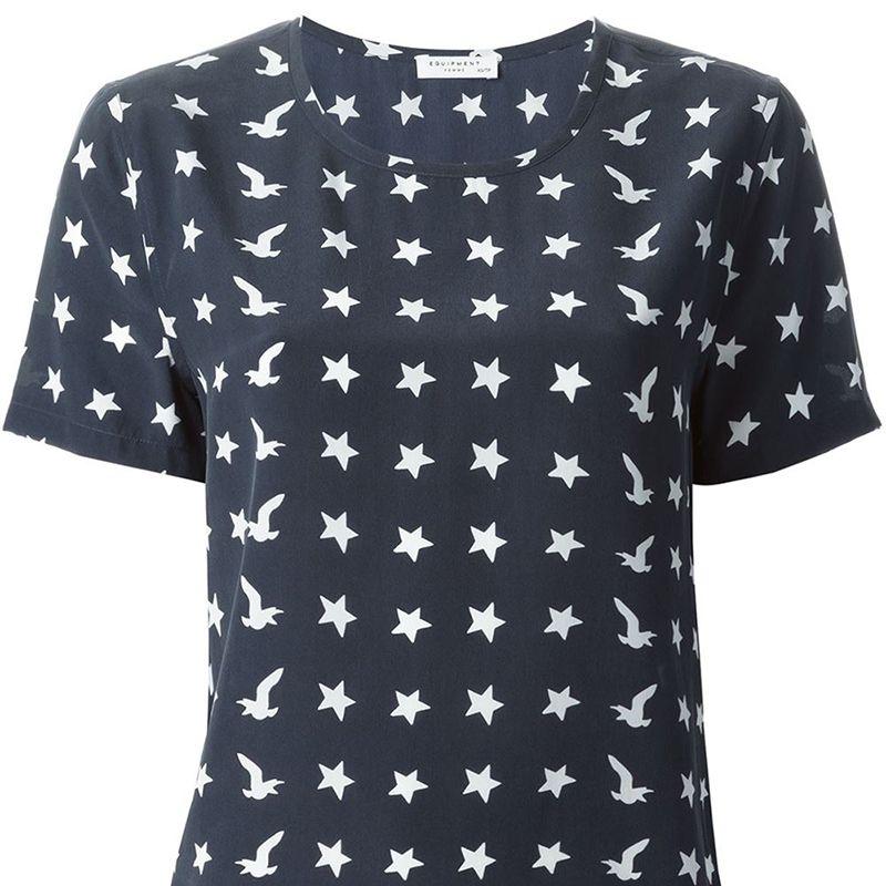 "<p>Equipment shirt, $197, <a href=""http://www.farfetch.com/shopping/women/equipment-star-print-t-shirt-item-11074691.aspx?storeid=9270&ffref=lp_12_14_"" target=""_blank"">farfetch.com</a>. </p>"