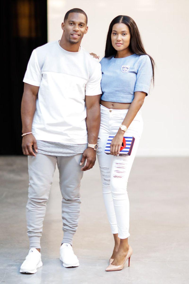 Victor Cruz and Elaina Watley