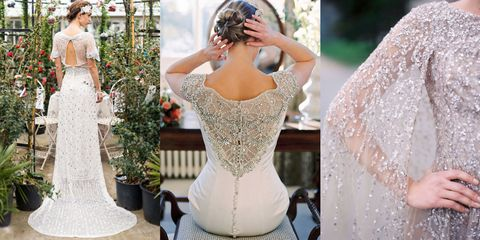 Clothing, Shoulder, Dress, Textile, Wedding dress, Gown, Fashion, Embellishment, Bridal clothing, Waist,
