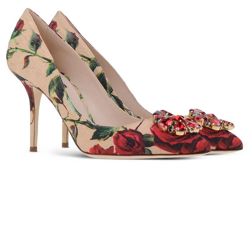 """<p>Dolce & Gabbana pumps, $895, <a href=""""https://shop.harpersbazaar.com/designers/d/dolce-and-gabbana/printed-brocade-pump/"""" target=""""_blank"""">shopBAZAAR.com</a></p>"""