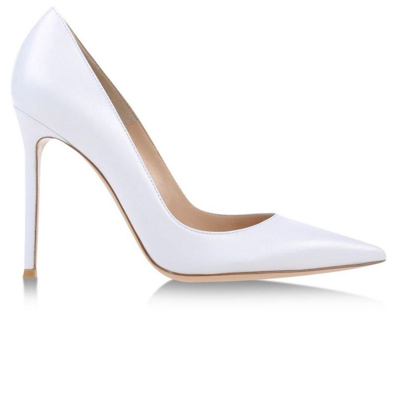 "<p>Gianvito Rossi pumps, $660, <a href=""https://shop.harpersbazaar.com/designers/gianvito-rossi/white-leather-pump/"" target=""_blank"">shopBAZAAR.com</a></p>"