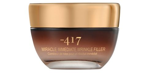 "<p>Apply <a href=""http://www.minus417.com/en/recover/wrinkle-filler"" target=""_blank"">-417</a> Miracle Immediate Wrinkle Filler ($126) to plump fine lines and improve the texture of your skin in no time. Use it nightly for long-term antiaging benefits.</p>"