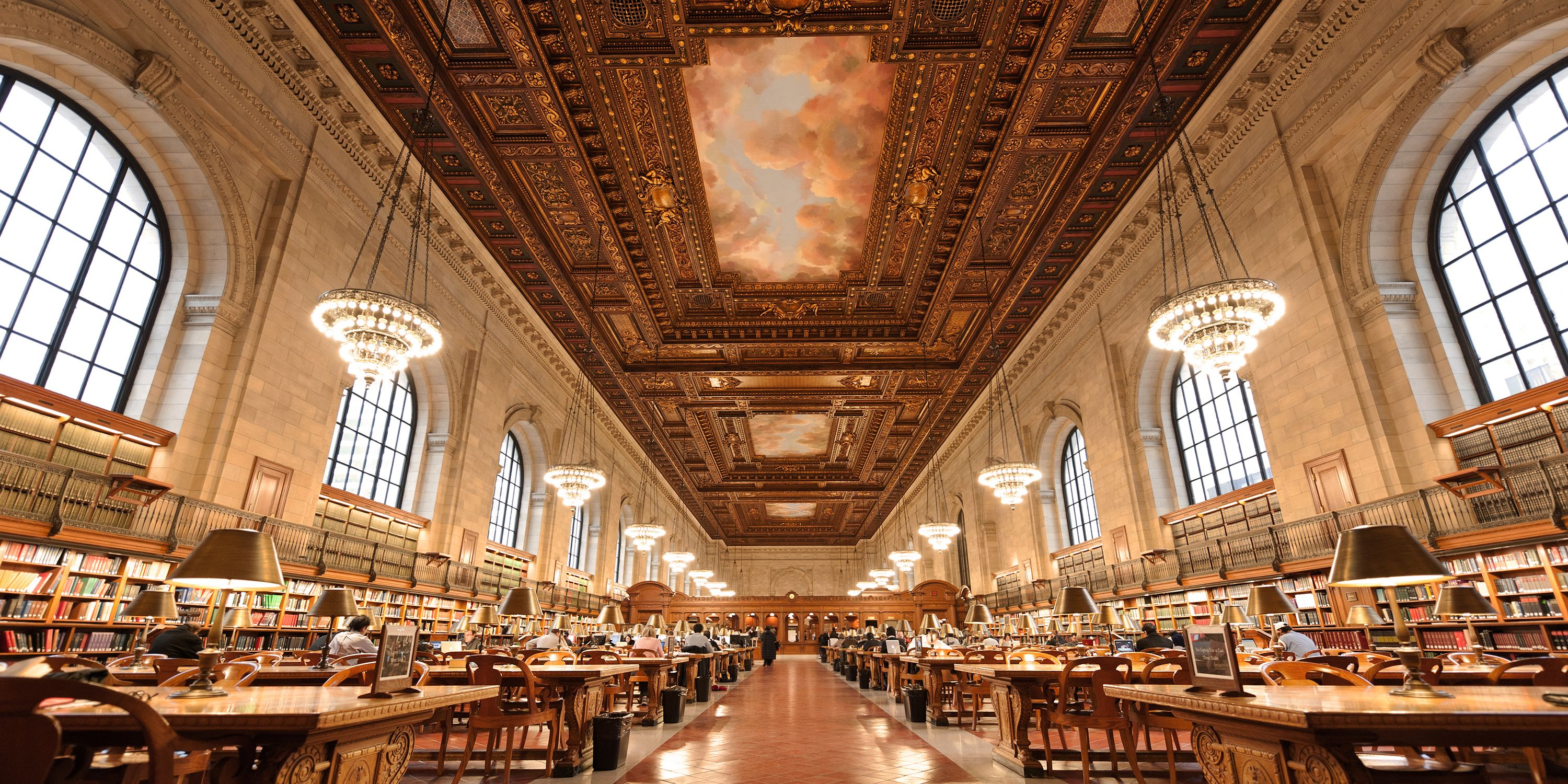 "<p>Located in the heart of the New York Public Library, this is the perfect place for studying, reading or just simply staring at the beautiful ceiling. </p><p><strong>Location:</strong> 5th Ave at 42nd St New York, NY</p><p><strong>Hours: </strong>10am - 6pm daily, <a href=""http://www.nypl.org/locations/schwarzman"" target=""_blank"">nypl.org</a>. </p>"