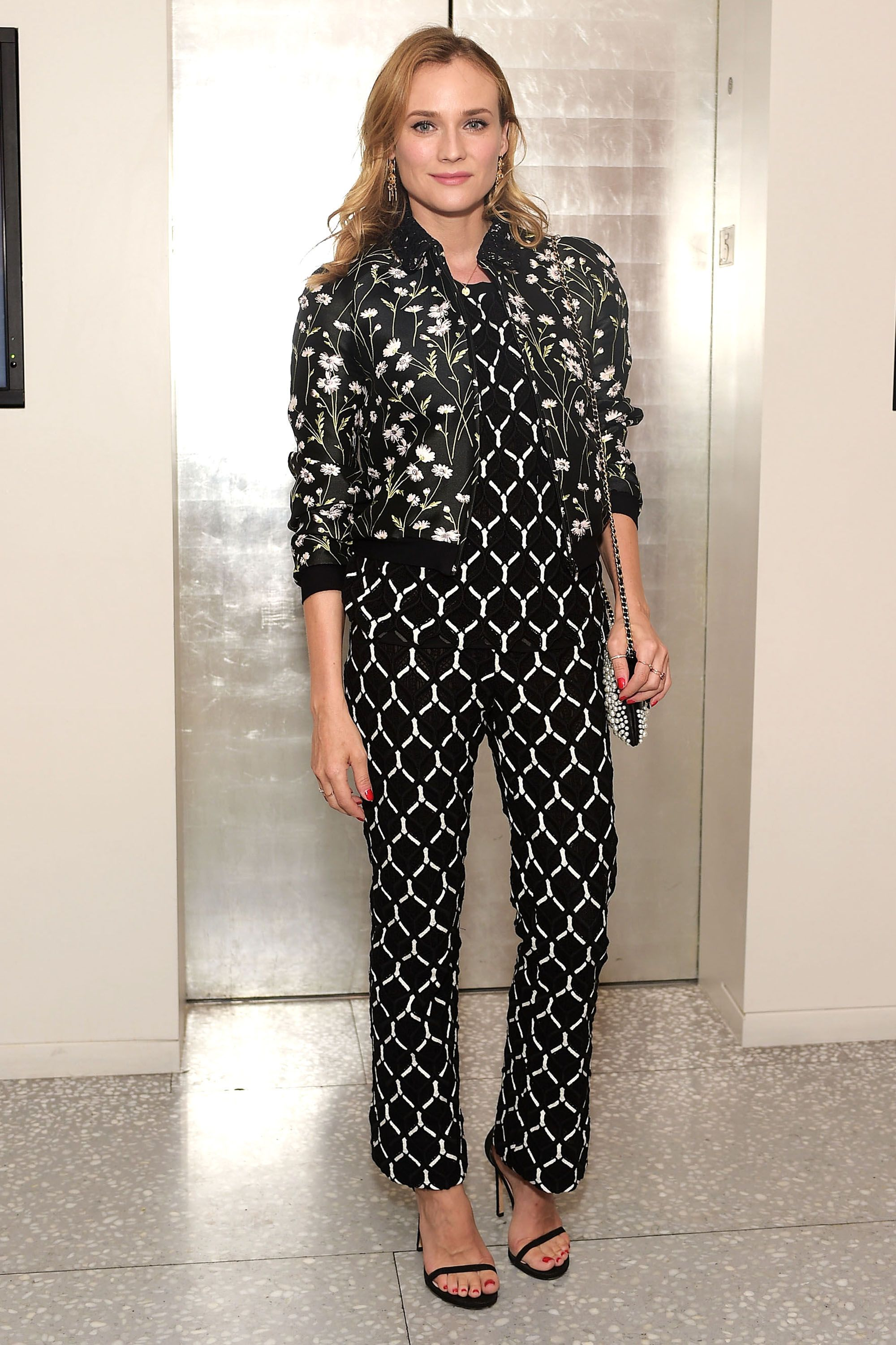 <p><strong>What: </strong>Giambattista Valli and Stuart Weitzman shoes</p><p><strong>Where: </strong>Women In Film Event Hosted by Barney's New York</p><p><strong>Why:</strong> The bomber jacket lends a cool and sporty touch to this Parisian chic ensemble. </p>