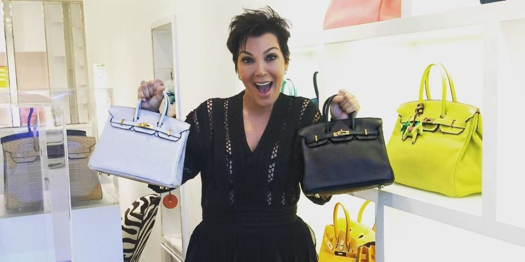 8081bd55202 Kris Jenner Buys Two  Baby Birkin  Bags in One Day