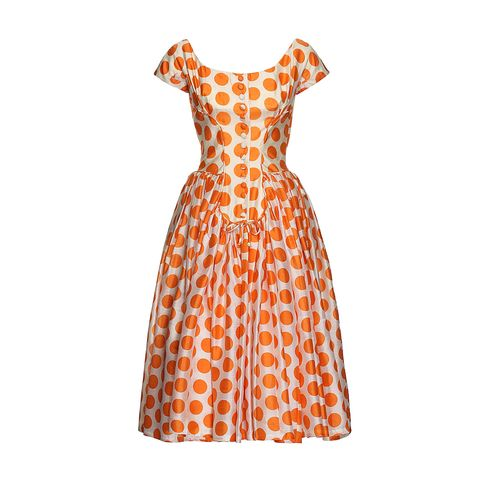 "<p><strong>Suzy Perette</strong> dress, $920, <a href=""https://ladoublej.com/shop/dresses/suzy-perette-dot-dress/"" target=""_blank"">ladoublej.com</a>. </p>"