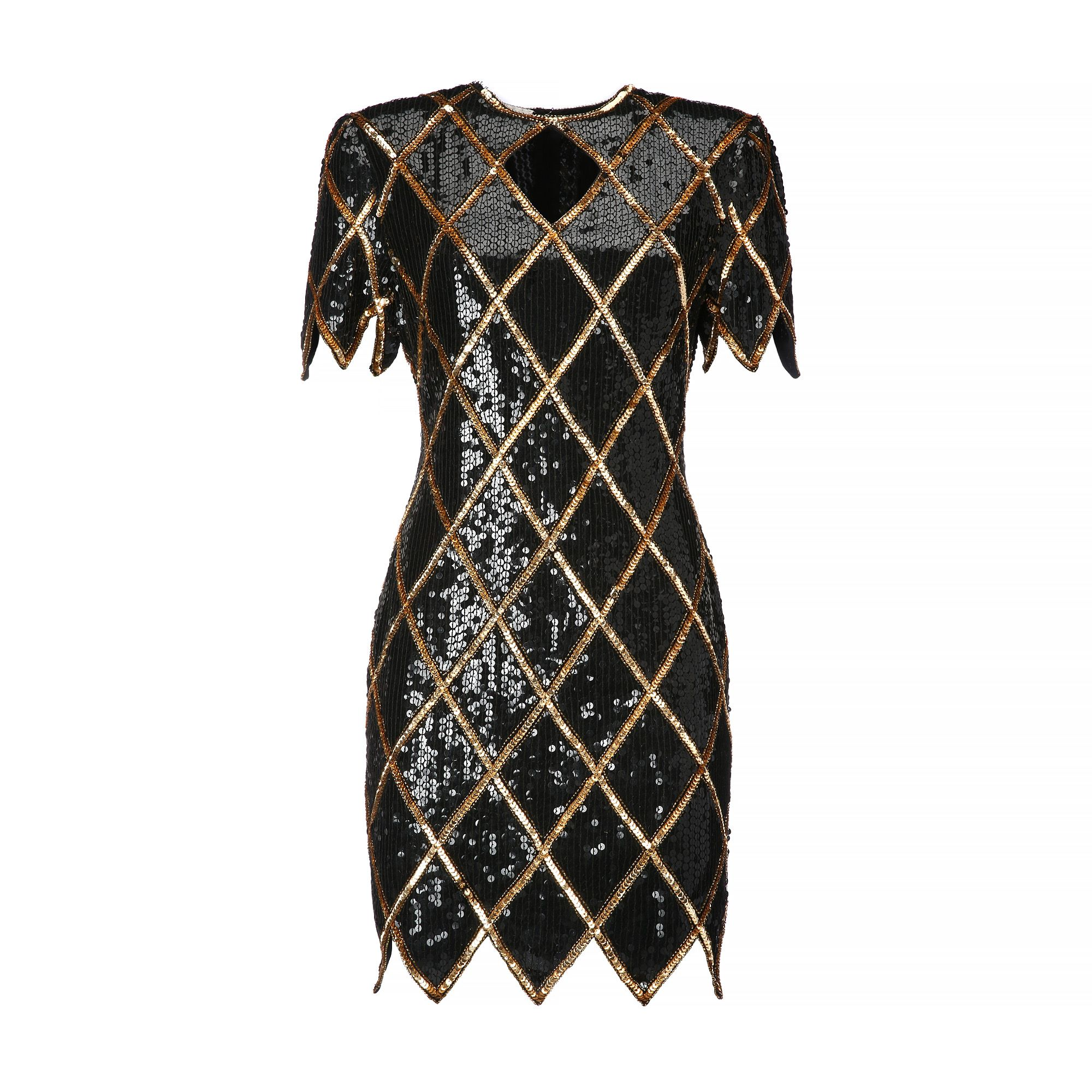 "<p><strong>La DoubleJ</strong> black and gold sequined dress, $420, <a href=""https://ladoublej.com/shop/dresses/black-gold-sequined-dress-1980s/"" target=""_blank"">ladoublej.com</a>. </p>"