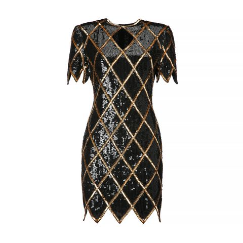 "<p><strong>La DoubleJ</strong> black and gold sequined dress, $420, <a href=""https://ladoublej.com/shop/dresses/black-gold-sequined-dress-1980s/"" target=""_blank"">ladoublej.com</a>. </p>"