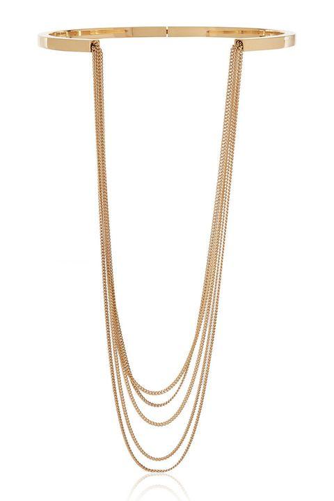 """<p><em>Chloé necklace, $910, <a href=""""http://www.net-a-porter.com/product/570506/Chloe/delfine-gold-tone-necklace"""" target=""""_blank"""">net-a-porter.com</a>. </em></p>"""