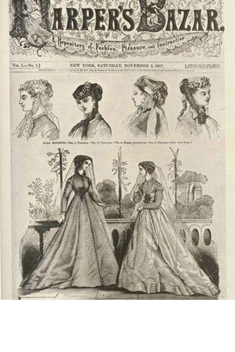 Head, Human, Hairstyle, Sleeve, Victorian fashion, Formal wear, Dress, Gown, Fashion, Costume design,