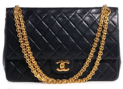 bf0f614ce1ce5 A new Chanel Classic jumbo will cost you $5,500. A vintage one in perfect  condition with the huge rocking CC's (that are literally real 22K gold  alloy) can ...