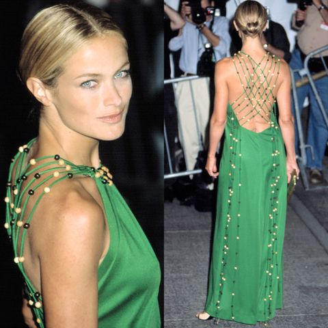 <p>Carolyn Murphy at the Met Gala proves that fashion requires 360 degrees of glamour.</p>