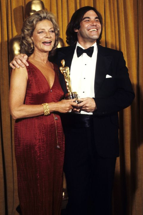 <p>Vintage isn't just for kids as evidenced by Lauren Bacall in this iconic dress at the Oscars.</p>