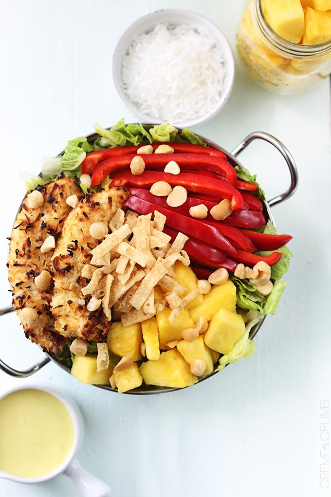 "<p>This is not a drill: You can make a pina colada in a salad. Mind=blown.</p><p>Get the recipe from <a href=""http://lecremedelacrumb.com/2014/06/pina-colada-chicken-salad.html"">La Creme de la Crumb</a>.<span></span></p>"