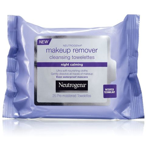 "<p>Kardashian prefers the soothing lavender scent of these wipes to the original and said that they're the first thing she reaches for when the cameras stop rolling: ""I always keep them in my bag and take off my makeup so I can kiss my daughter.""</p><p><strong>Neutrogena</strong> Makeup Remover Cleansing Towelettes Night Calming, $7, <a href=""http://www.ulta.com/ulta/browse/productDetail.jsp?productId=xlsImpprod2910067"" target=""_blank"">ulta.com</a>.</p>"