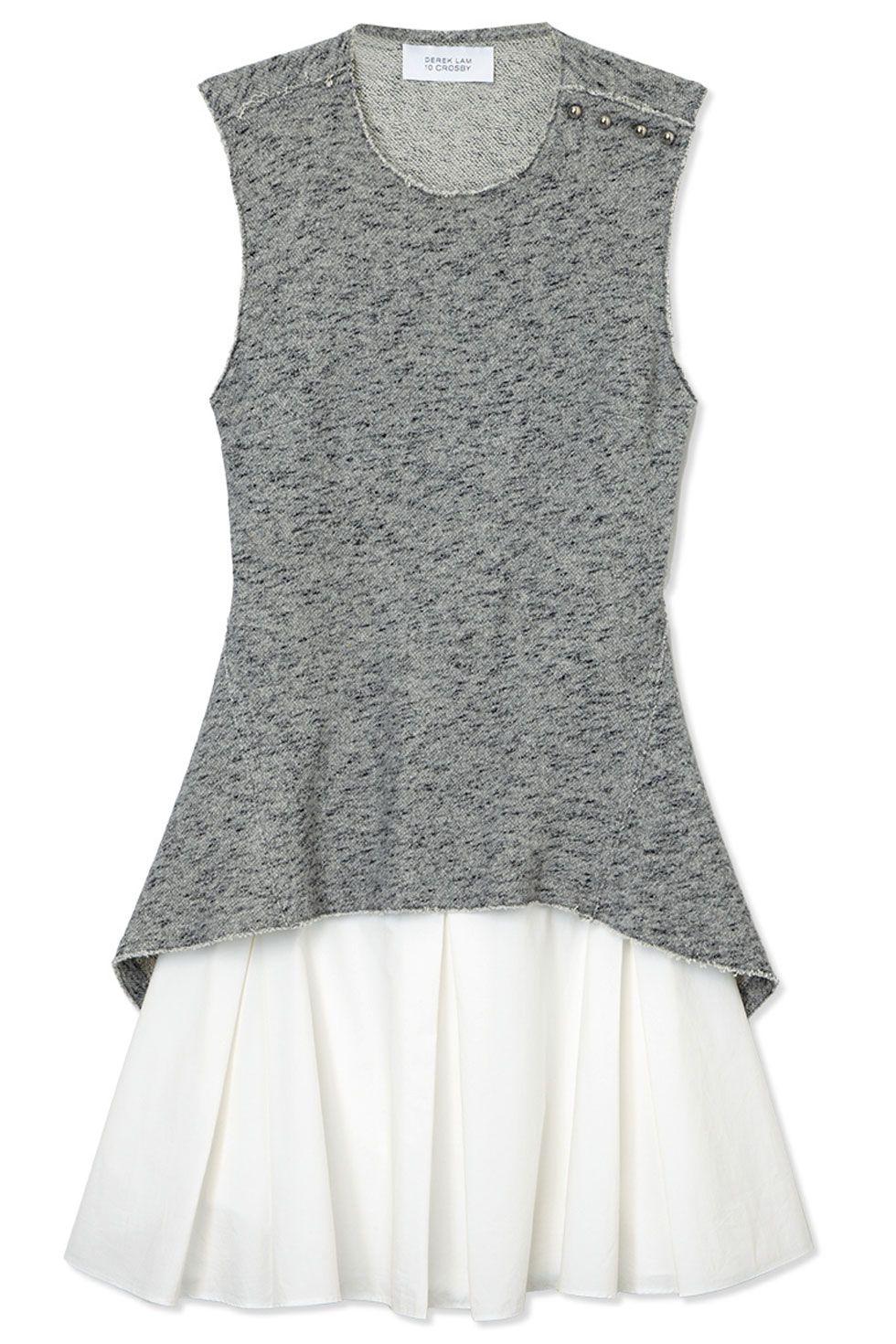 "<p>10 Crosby Derek Lam dress, $495, <a href=""https://shop.harpersbazaar.com/designers/10-crosby-derek-lam/flared-skirt-dress/"" target=""_blank"">shopBAZAAR.com</a></p>"