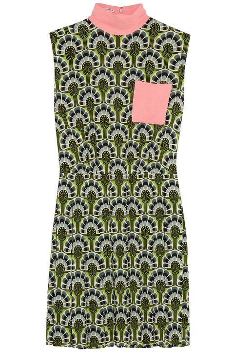 "<p>Miu Miu dress, $2,350, <a href=""http://www.net-a-porter.com/us/en/product/595676"" target=""_blank"">net-a-porter.com</a></p>"