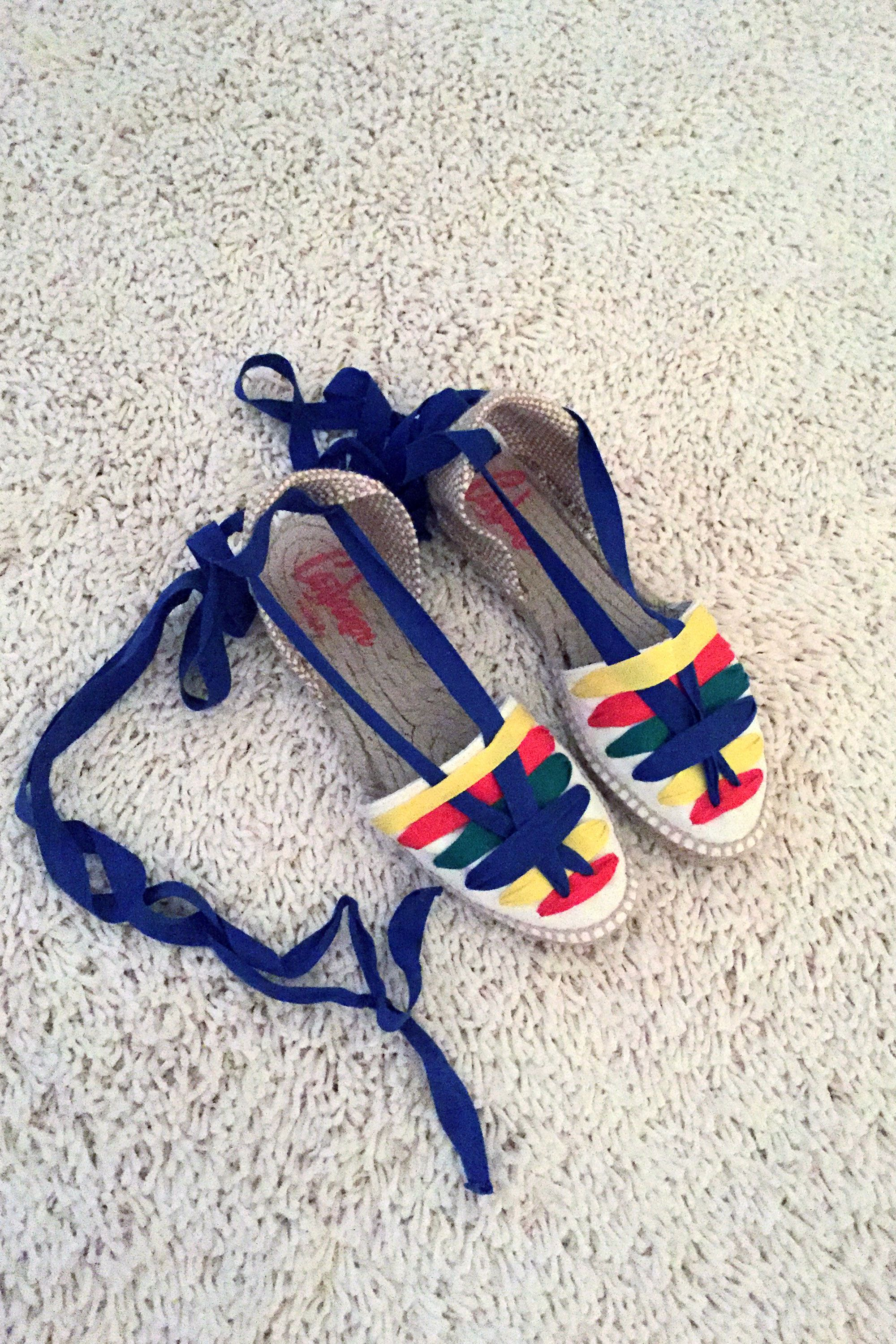 """<p>Although there is always a chance of rain at English festivals, I am being optimistic and pack these Castaner Espadrilles as they are so colorful and feel like the perfect summer festival shoes.</p><p><strong>Castaner</strong> espadrilles, <a href=""""http://www.castaner.com/en-us/shop/woman/espadrilles-1"""" target=""""_blank"""">castaner.com</a>.<br></p>"""
