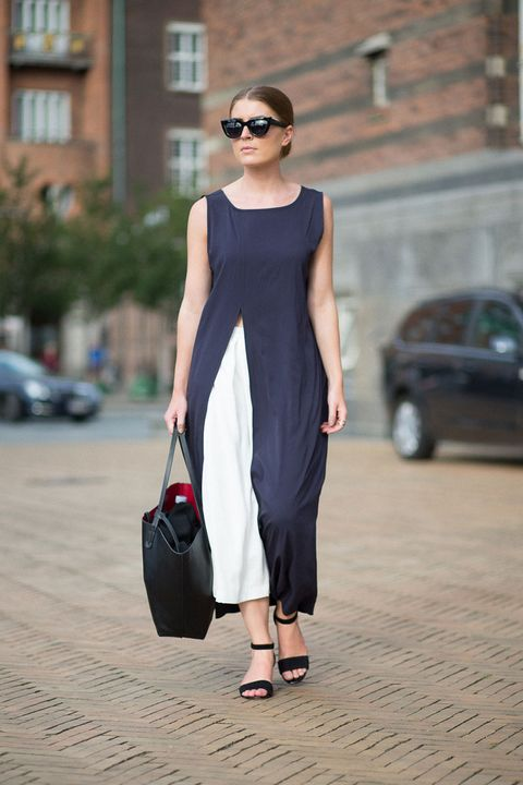 Clothing, Dress, Shoulder, Bag, Joint, Sunglasses, Fashion accessory, Style, Street fashion, Luggage and bags,