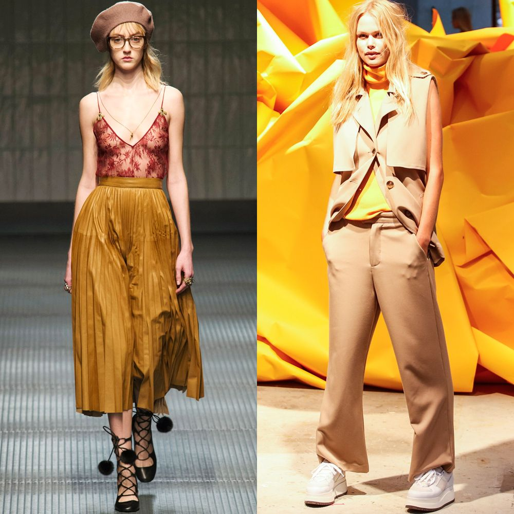 <p>Gucci Fall 2015 and Gianni Spring 2016 are giving grown up camper vibes.</p>