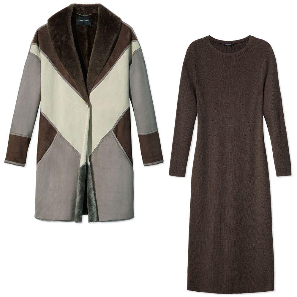 "<p><em>Lafayette 148 coat,$2,998, <a href=""https://shop.harpersbazaar.com/designers/l/lafayette-148-new-york/mauro-coat-5247.html"" target=""_blank"">shopBAZAAR.com</a>&#x3B; </em><em>Lafayette 148 dress, $698,</em><a href=""https://shop.harpersbazaar.com/designers/l/lafayette-148-new-york/twisted-rib-long-dress-5249.html"" target=""_blank""><em>shopBAZAAR.com</em></a></p>"