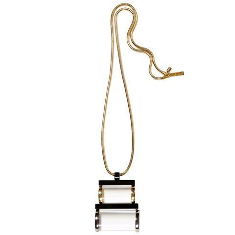 "<p><em>Lafayette 148 necklace, $198, </em><a href=""https://shop.harpersbazaar.com/designers/l/lafayette-148-new-york/lucite-art-deco-drop-pendant-5258.html"" target=""_blank""><em>shopBAZAAR.com</em></a></p>"